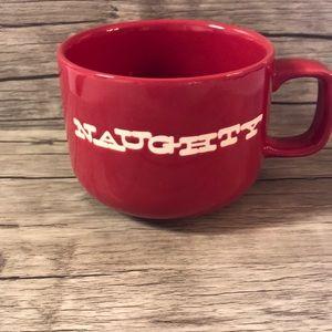 CRATE & BARREL Red Naughty & Nice Christmas Coffee Tea Mug